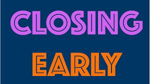 early closing web